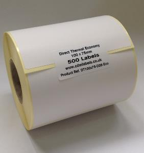 100 x 75mm Direct Thermal Labels - Economy