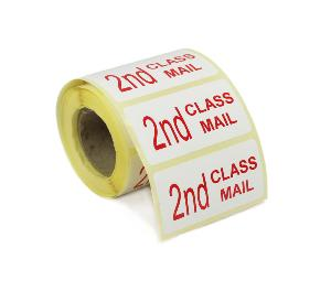 2nd Class Mail Labels - 50 x 25mm