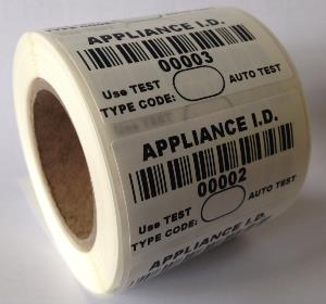 Appliance I.D. Label - 50 x 25mm