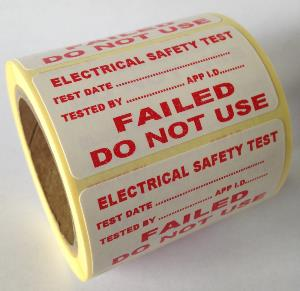 PAT Test Label - Failed - 50 x 25mm