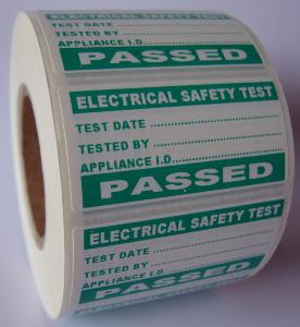 4th Edition PAT Test Label - Pass - 50 x 25mm