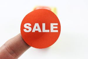 """SALE"" Promotional Labels / Stickers 40mm Diameter - 1000 Roll"