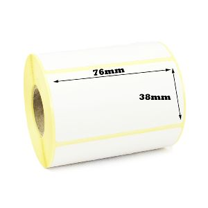 76 x 38mm Direct Thermal Labels - Economy