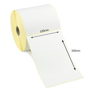 100 x 150mm Direct Thermal Labels With Perforation - Economy. 500 Labels Per Roll.