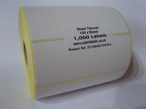 100 x 50mm Direct Thermal Labels - Economy