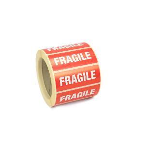 "89mm x 36mm printed "" Fragile "" mailing Labels / stickers. Permanent Adhesive."