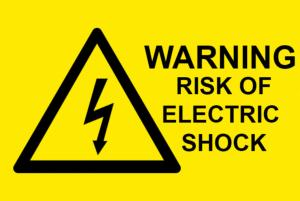 Warning Risk Of Electric Shock Electrical Safety Warning Labels - 76 x 51mm