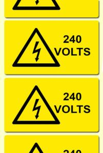 Voltage Electrical Warning Labels