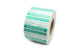 PAT Test Label - Pass - 50 x 25mm