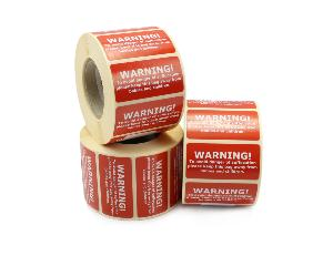 Warning Suffocation Labels - 50 x 25mm
