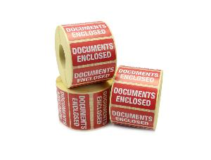 Documents Enclosed Labels - 50 x 25mm