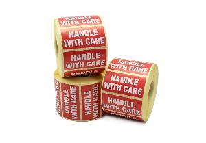 Handle With Care Labels - 50 x 25mm