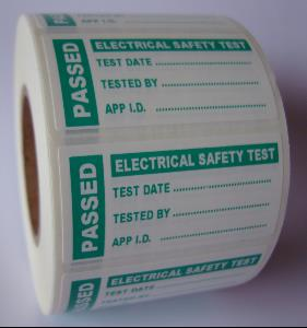 4th Edition Pat  Test Label - Passed - 50 x 25mm