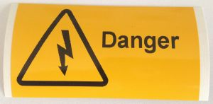 Danger - Electrical Symbol Electrical Safety Warning Labels - 76 x 38mm