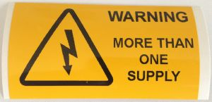 Warning More Than One Supply Electrical Safety Warning Labels - 76 x 38mm