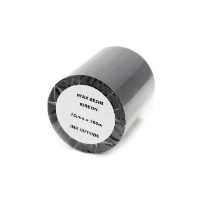 76mm x 360mtr Black Wax Resin Grade Thermal Transfer Ribbons (2 Ribbons)