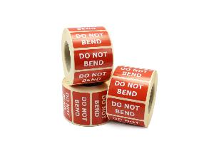 Do Not Bend Labels - 50 x 25mm
