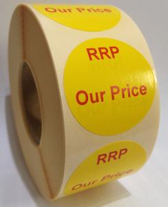 RRP / OUR PRICE Labels - 40mm dia.