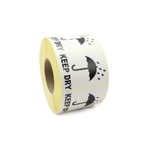 Keep Dry Handling / Shipping labels. 100mm x 75mm, Black & White.