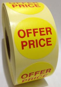 Offer Price Labels - 40mm dia.
