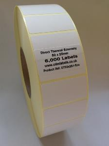 50 x 25mm Direct Thermal Labels - Economy