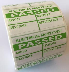 PAT Test Labels - Passed - 50 x 25mm
