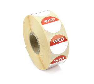 Wednesday Day Dot Food labels / stickers.