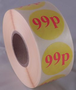 99p Labels - 40mm dia.