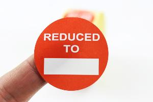 """Reduced To"" Promotional Labels / Stickers 40mm Diameter - 1000 Roll"