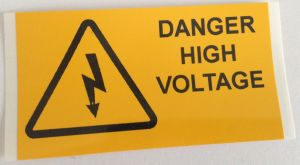 Danger High Voltage Electrical Safety Warning Labels - 76 x 38mm