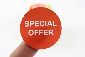 """Special Offer"" Promotional Labels / Stickers 40mm Diameter - 1000 labels per Roll"