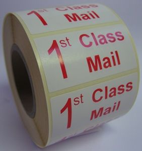 1st Class Mail Labels - 50 x 25mm