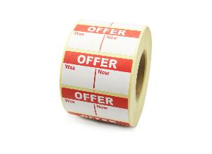 Offer - Was / Now Labels - 50 x 25mm