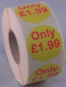 Only £1.99 Labels - 40mm dia.