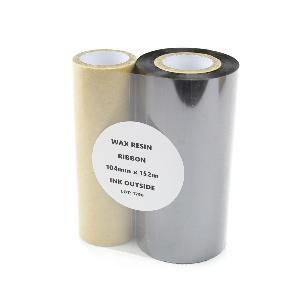 104mm x 152m, Black Wax Resin, Thermal Transfer printer ribbons. (6 Ribbons)