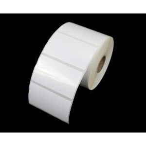 70mm x 40mm White Gloss Polypropylene labels / stickers.Ideal for outdoor use.