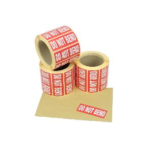 89mm x 36mm Do not Bend, Printed Red & White Labels. Permanent Adhesive.
