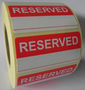 Reserved - 1 Line Labels