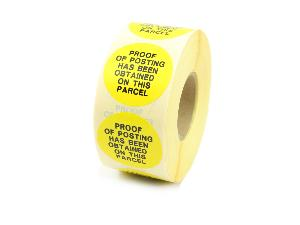 Proof Of Posting Labels - 32mm Diameter