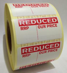 REDUCED - RRP / OUR PRICE Labels - 50 x 25mm