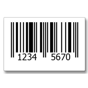 EAN-8 Printed Barcode Labels