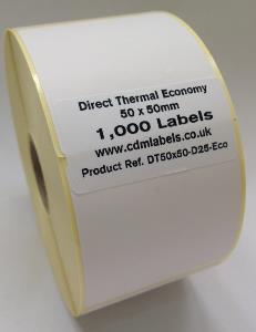 50.8 x 50.8mm Direct Thermal Labels - Economy