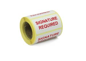Signature Required Labels - 50 x 25mm