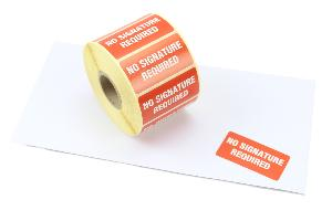 No Signature Required Labels - 50 x 25mm