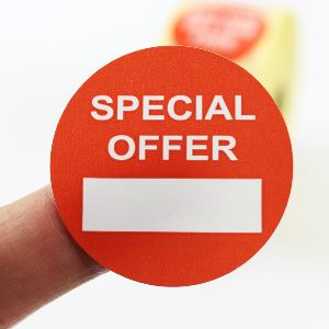 """Special Offer"" Promotional Labels / Stickers 40mm Diameter - 1000 Roll"
