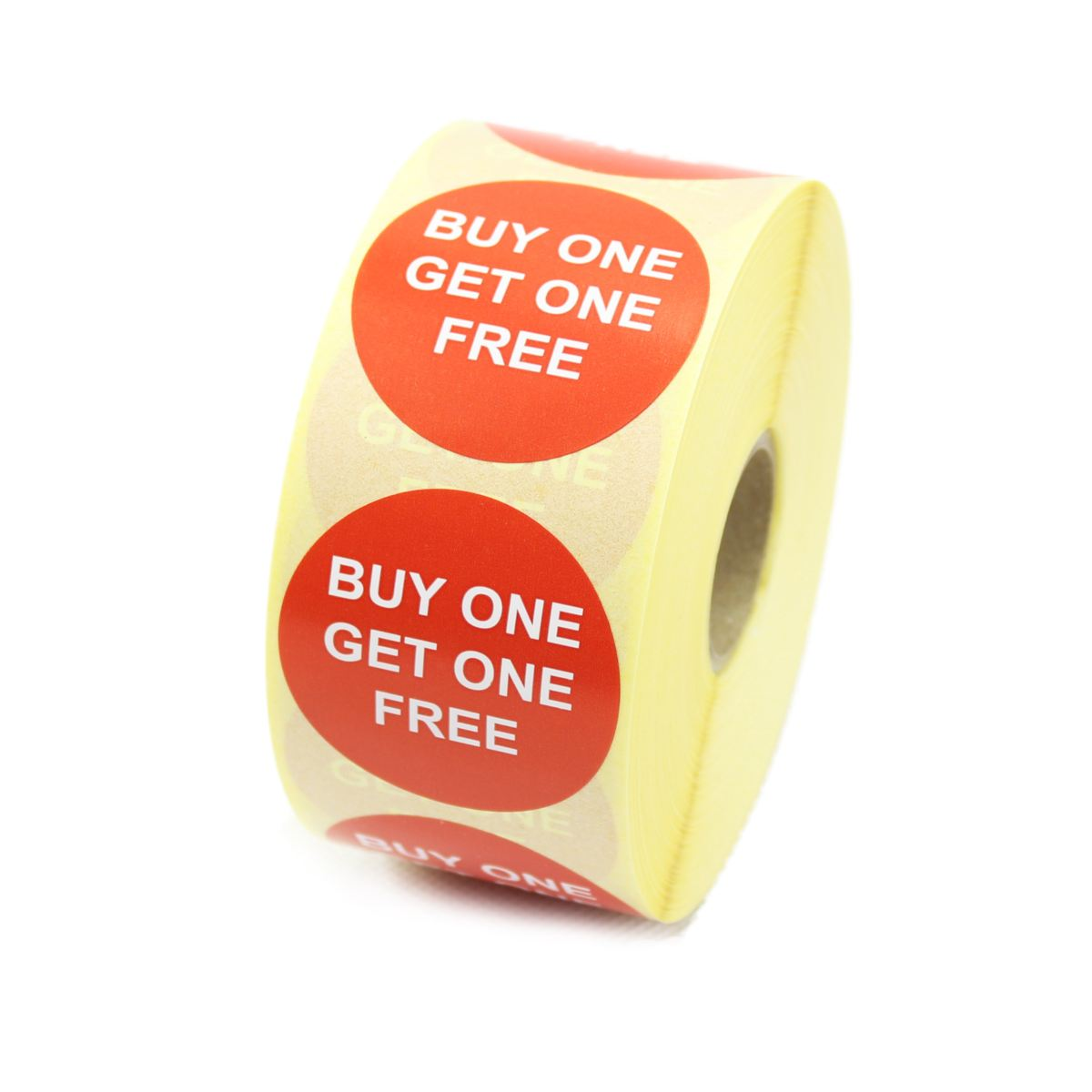 """""""Buy one get one free"""" Promotional Labels / Stickers 40mm ..."""