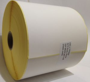 Kroy Label Printers - 100 x 150mm Direct Thermal Top Coated Labels