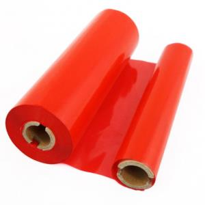 110mm x 74mtr Red Wax Grade Ribbons (6 Ribbons)